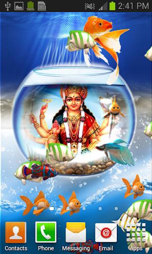 Durga Mata Aquarium Wallpaper