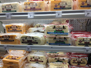 Photo: We love the cheese options at Sam's Club. Besides these sliced cheeses, they have big blocks of Parmesan that we love, and containers of feta crumbles.