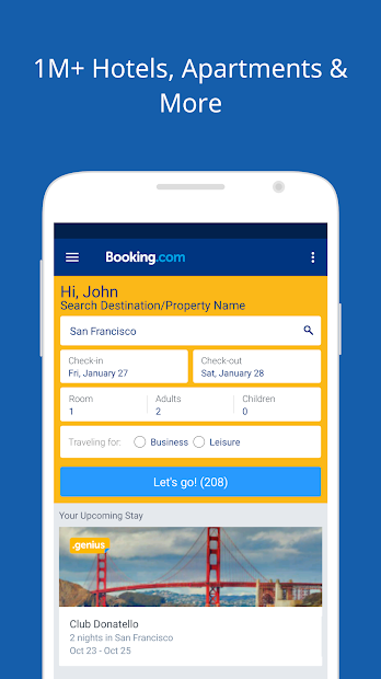 Booking.com: Hotels, Apartments & Accommodation Android App Screenshot