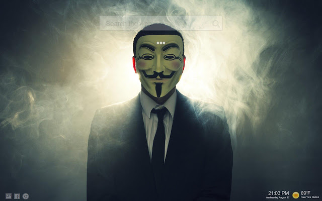 Pestaña hacker anónimo HD