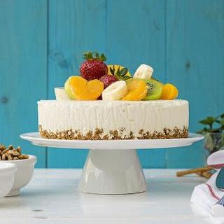 Greek Yogurt, Honey & White Chocolate Mousse Cake.
