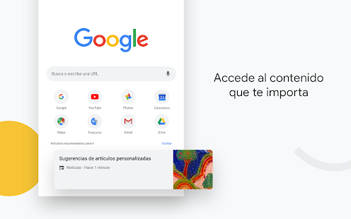 Google Chrome: rápido y seguro Screenshot