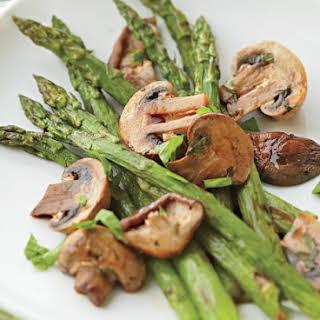 Asparagus And Wild Mushrooms.