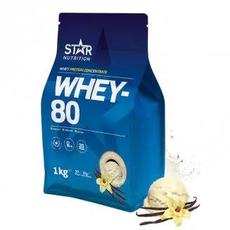 Star Nutrition Whey 80 1kg - Vanilla