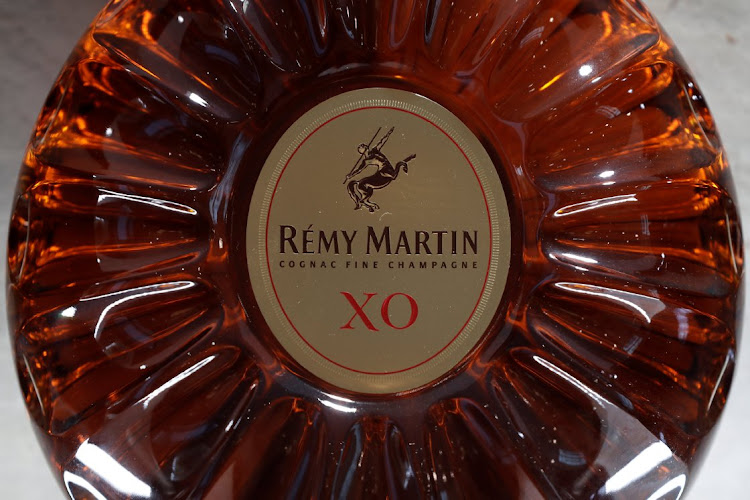 A bottle of Rémy Martin XO cognac is displayed at the Rémy Cointreau headquarters in Paris, France, on January 21 2019. Picture: REUTERS/BENOÎT TESSIER