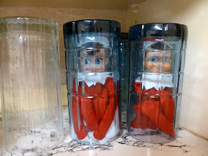 Photo: December 18 - hiding under glasses in the cabinet