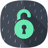 Live Rain Lock Screen LockWiz
