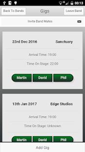 BandMate: Gig Management - náhled