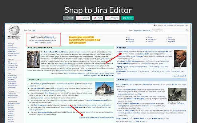 Snap to Jira