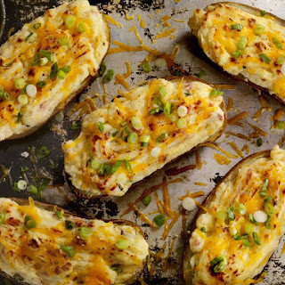 Twice Baked Potatoes With Cream Cheese and Chives.