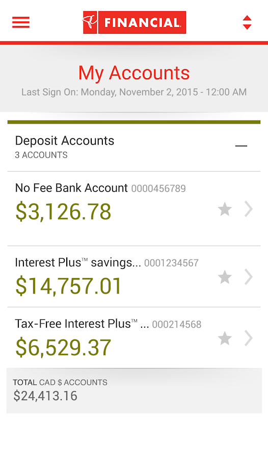 PC Financial Mobile Banking- screenshot