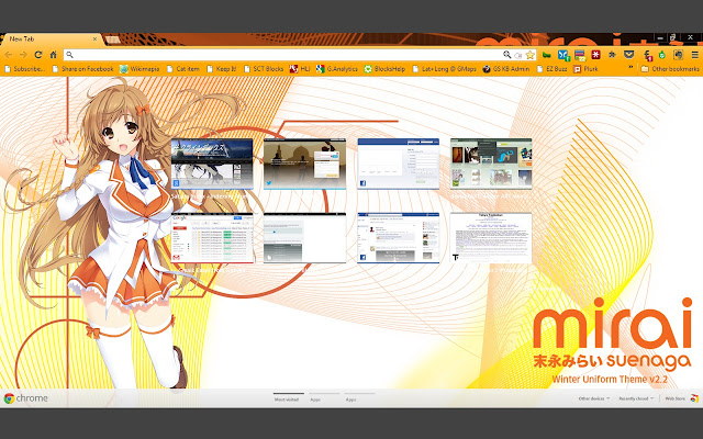 Mirai suenaga winter uniform theme v2 2 chrome web store - Winter theme chrome ...