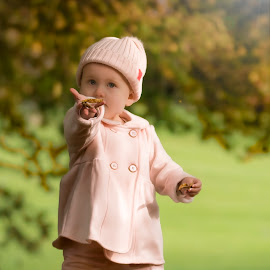 Autumn leaves by Jamie Ledwith - Babies & Children Child Portraits ( girl, autumn, fall, baby, leaves )
