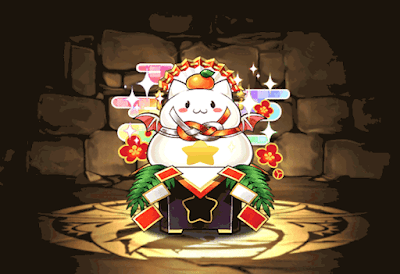 正月のパズドラ鏡餅【虹】
