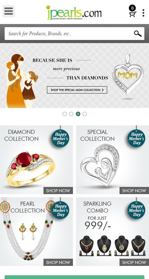Jpearls.Com online shopping- screenshot
