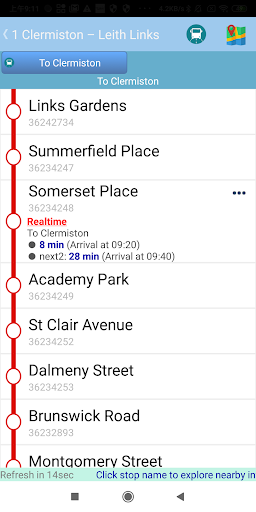 Edinburgh Bus Tracker screenshots 3