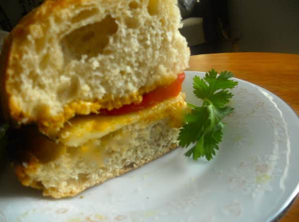 Spicy Mint, Soft Cheese And Bell Pepper Grilled Sandwich.