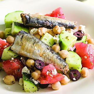 Greek Salad with Sardines