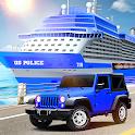 Us police car Transporter: Police Transport Game icon