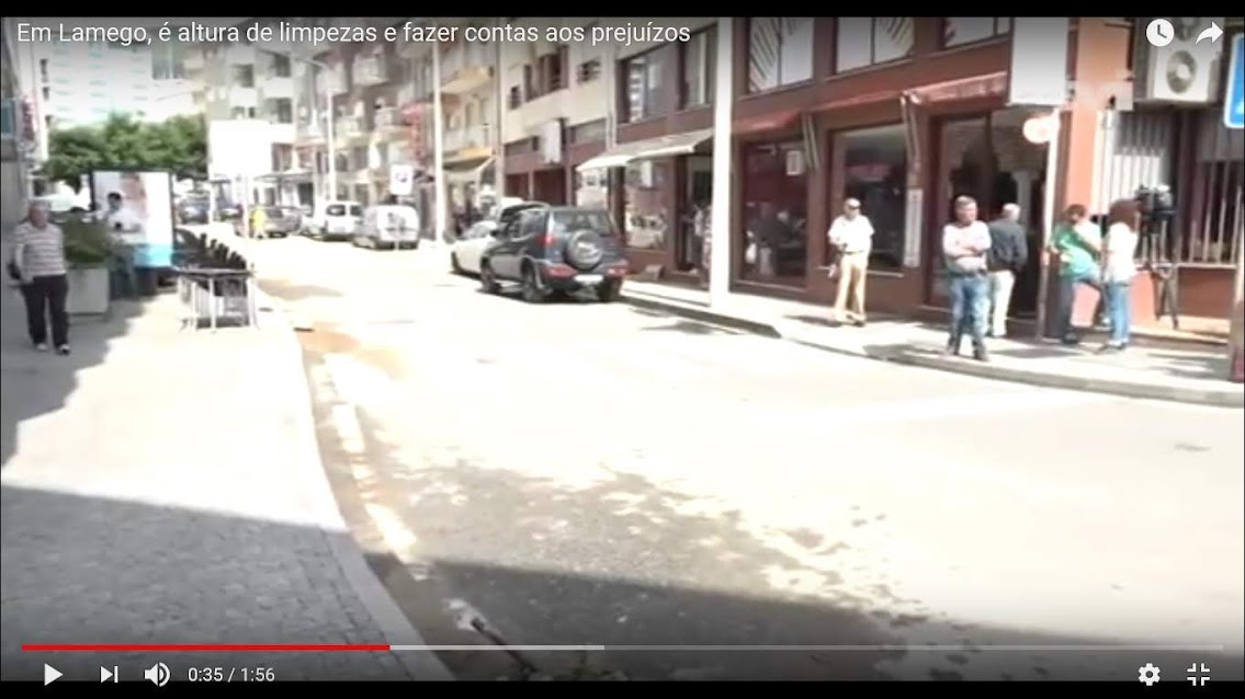 Vídeo - Em Lamego, é altura de limpezas e fazer contas aos prejuízos