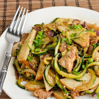 Syn Free Chicken Zoodle Stir Fry.