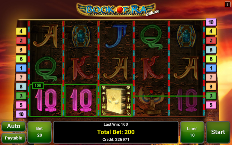 android Book of Ra™ Deluxe Slot Screenshot 1