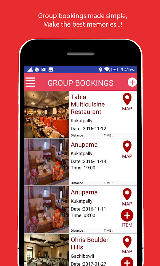 fingerbowl-Restaurants Booking- screenshot