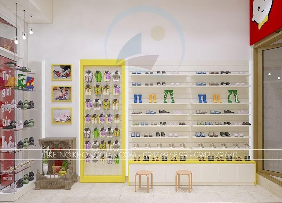 thiết kế shop giày dép trẻ em diện tích nhỏ
