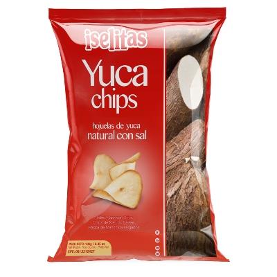 snack iselitas yuca chips con sal 180gr