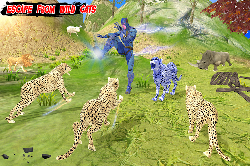 Multi Cheetah Speed hero Vs Wild Animals 1.1 screenshots 6