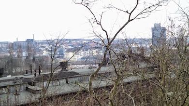 Photo: Ein Blick zum Drerup-Viertel. Links das Josefshospital, rechts die Filiale der Bundesagentur für Arbeit.