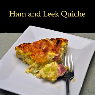 Ham and Leek Quiche.