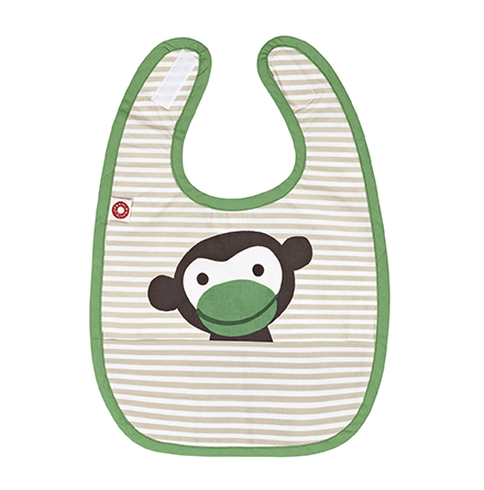 Franck & Fischer food bib khaki monkey