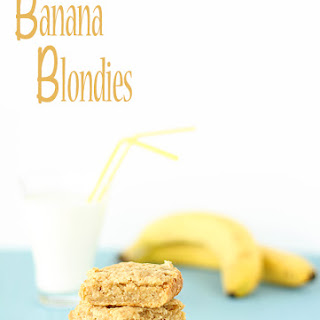 Banana Blondies (vegan).