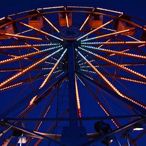 FERRIS WHEEL by Bethany Kenney - City,  Street & Park  Amusement Parks ( night, ferris wheel )