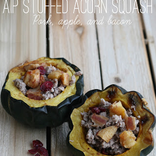 Autoimmune Protocol Pork, Bacon and Apple Stuffed Acorn Squash