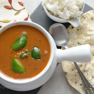 Capsicum Kuzhambu / Pulusu / Curry