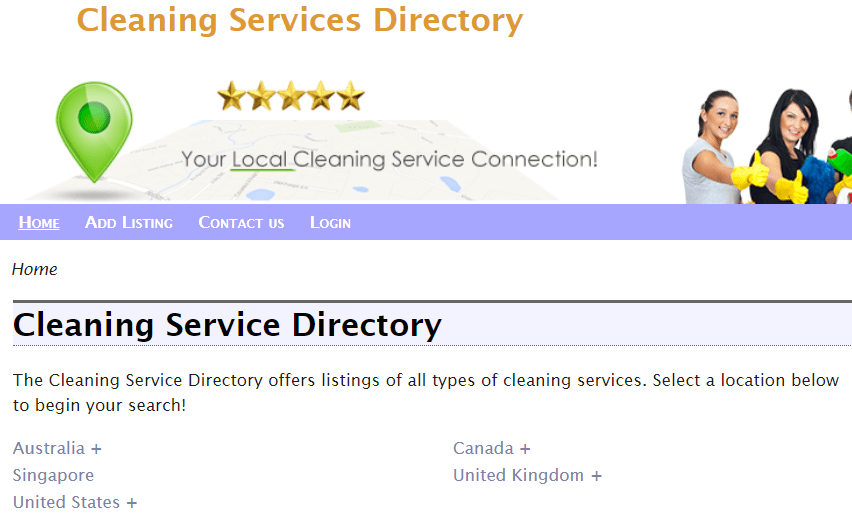 cleaning service directory
