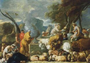 Photo: - Le Voyage d'Abraham en Egypte ou Le Retour d'Egypte d'Abraham (Londre, coll. Denis Mahon) - Sébastien Bourdon