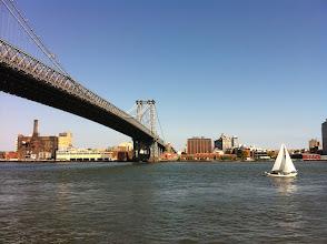 Photo: Williamsburg Bridge and Sail boat