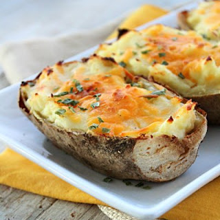 Double Baked Cheesy Potatoes Recipe