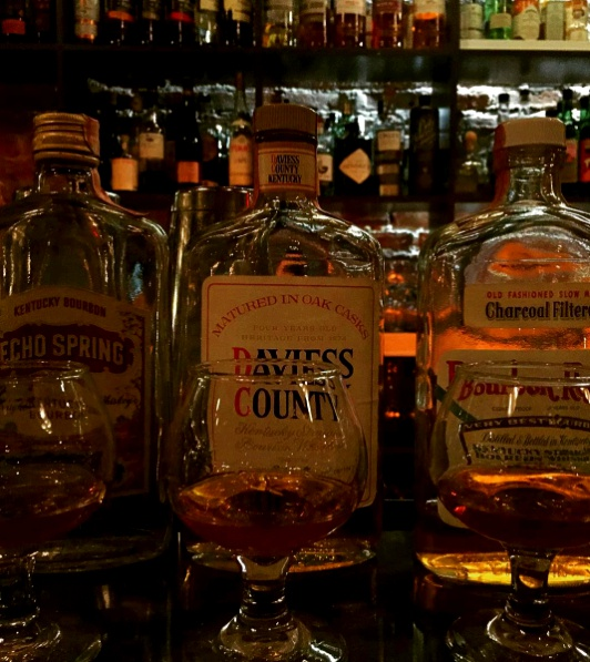 Traditional Kentucky Bourbon tasting.
