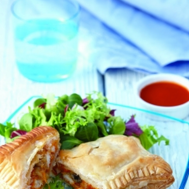 Buffalo Chicken And Blue Cheese Calzones