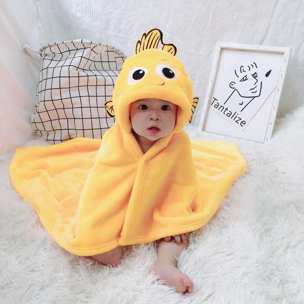 Baby in cute towel