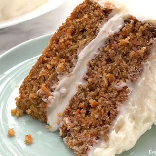 Moist Carrot Cake.