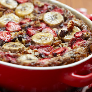1. Strawberry Banana Baked Oatmeal