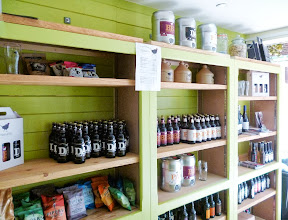 Photo: This is the brewery shop where you can buy carry-outs of the cask ales or minikegs/bottles which will keep longer, as well as t-shirts printed front and back, beautiful greetings cards and other tastefully selected merchandise. Opening times athttp://www.pheasantrybrewery.co.uk