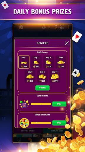 VIP Belote - French Belote Online Multiplayer android2mod screenshots 7