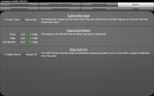 Axxess AX-DSP- screenshot thumbnail