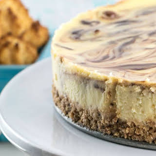 Macaroon Crust Cheesecake.